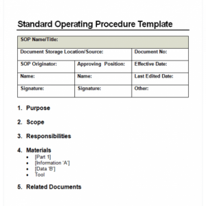 standard operating procedure examples sop image