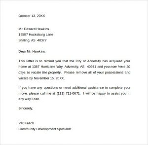 standard resignation letters days notice letter to vacate the property