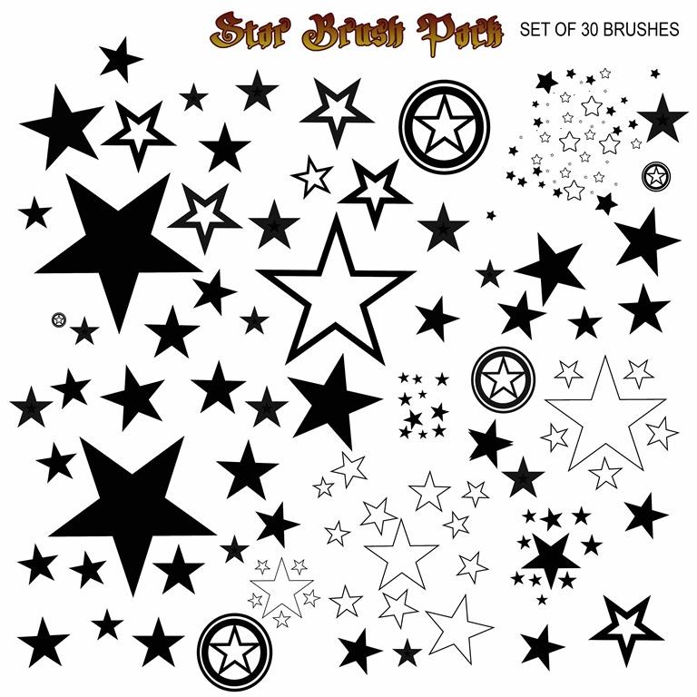 star brushes photoshop