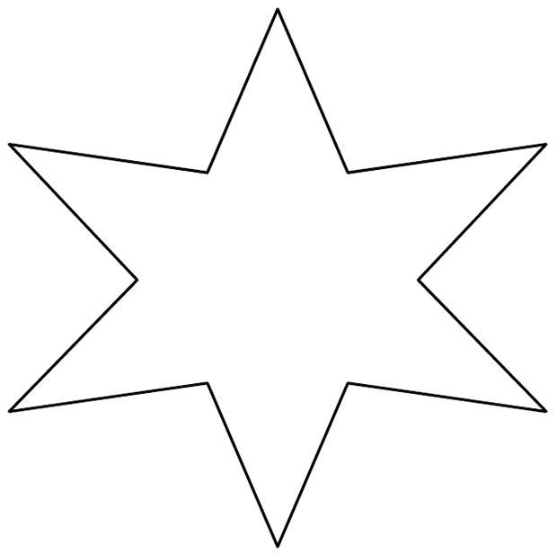 star shape template