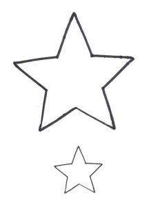 star shape template bcyozgqcl