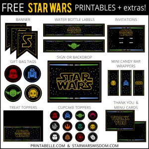 star war invitations free star wars printables extras