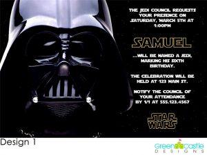 star wars birthday invitation o