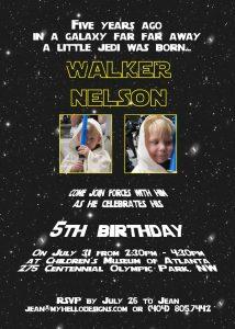 star wars birthday invitation il fullxfull