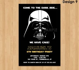 star wars birthday invitation il fullxfull uoo