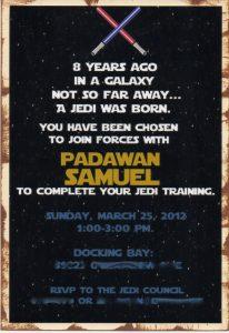 star wars birthday invitation jedi invite blur
