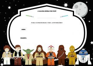 star wars birthday invite template um doce dia festa lego star wars convite