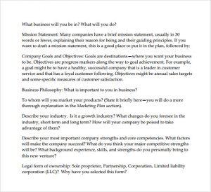 startup business plan example tech startup business plan template