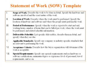 statement of work example statement of work template