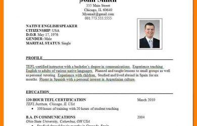 statement of work sample international cv format