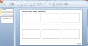 storyboard template powerpoint free simple storyboard template