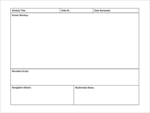 storyboard template powerpoint