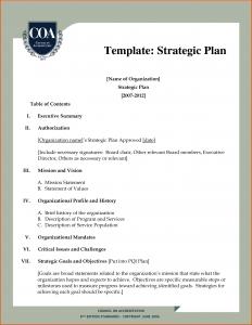strategic plan outline strategic plan outline