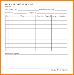 student progress report template progress report formats daily progress report