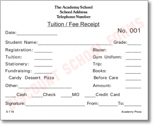 student progress report template tuition fee receipt e