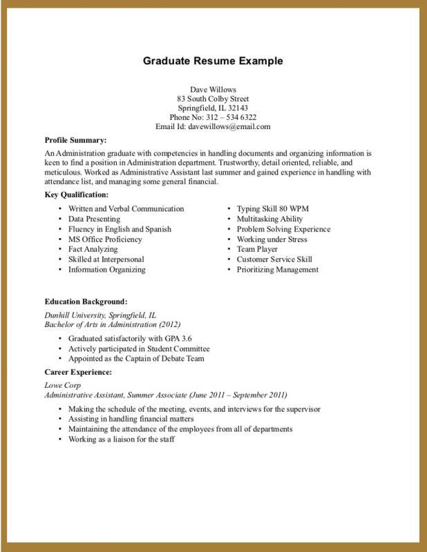 student resume format