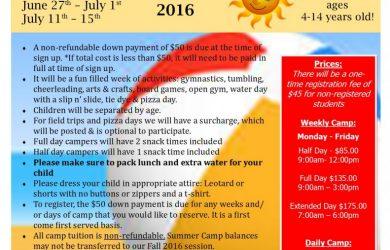 summer camp flyer summer camp flyer x