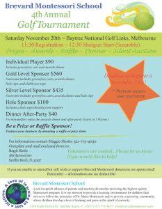 summer camp flyers brevard montessori golf tournament