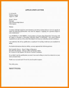 summer job application sample application letter for teacher sample application letter for teachers application letter cb