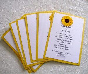 sunflower wedding invitations img