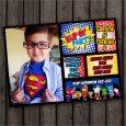 superhero birthday invitations creative superhero birthday invitation with custom photograph