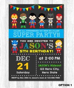 superhero birthday invitations il xn fz