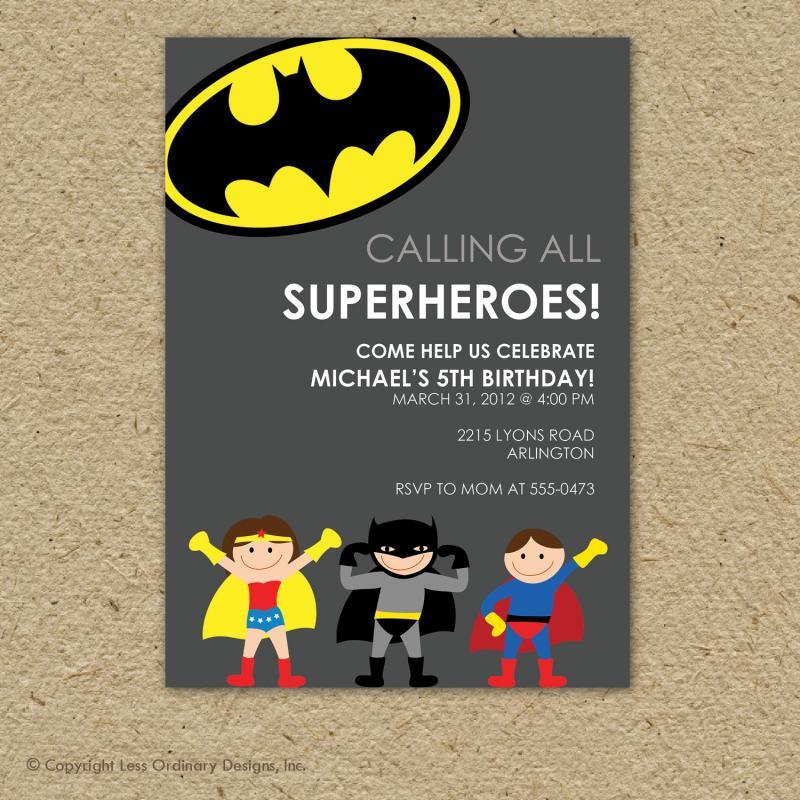 superhero birthday invitations