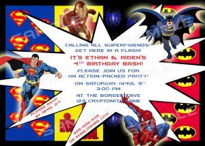 superhero birthday invitations superhero birthday party invitations template wgrcweo