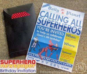 superhero birthday invitations superhero newspaper birthday invitation