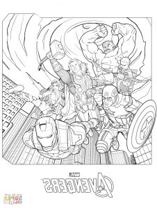 superheroes coloring books marvel avengers coloring page free printable coloring pages intended for coloring pages of marvel avengers