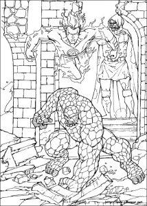 superheroes coloring pages fantasticos