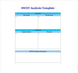 swot analysis template word swot analysis template word