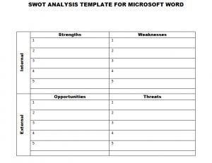 swot analysis template word swottemplatewordimage