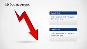 swot analysis templates d decline arrows
