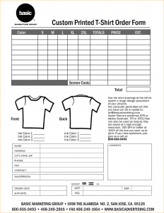 t shirt order form t shirt order forms template free 38428585