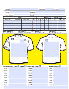 t shirt order form template microsoft word shirt order form image