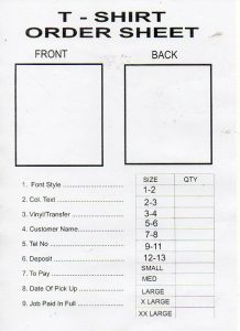 t shirt order form template t shirt order form