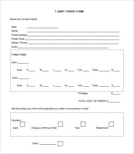 t shirt order form template word t shirt order form template blank word doc