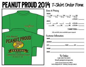 t shirt order forms peanut proud tshirt order form