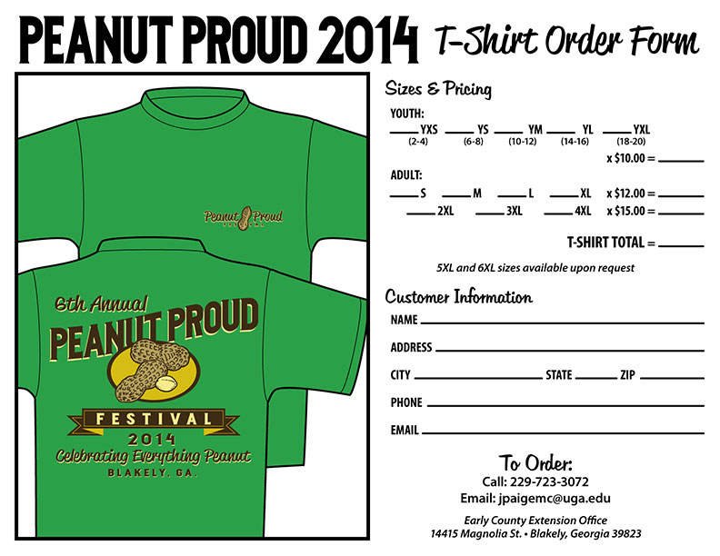 t shirt order forms