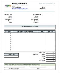 t shirt order forms plumbing service invoice template with sales tax