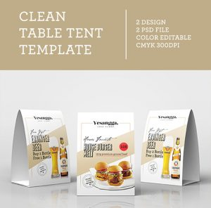 table tent mockup free clean table tent template