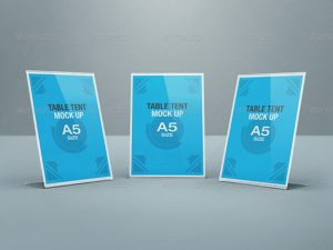 table tent mockup table tent mock up