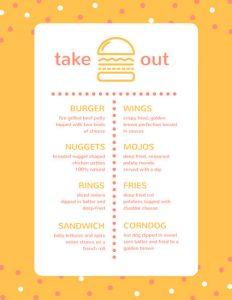 take out menu template canva yellow burger take out menu macbzykncqo