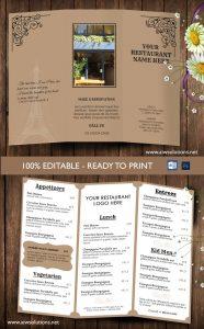 take out menu template take out menu template