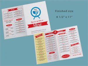 take out menu template take out restaurant menu template download
