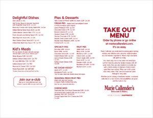 take out menu template takeout menu free template download