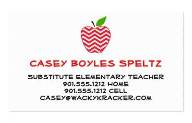 teacher business cards substitute teacher business cards reaaabcabbcdcfa it byvr