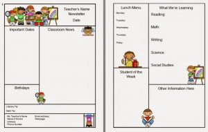 teacher newsletter templates teachernewsletter