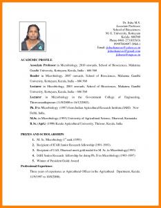 teacher resume template word biodata format for teachers job